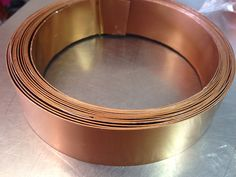 Extra wide copper flat wire 1 inch x 15 feet