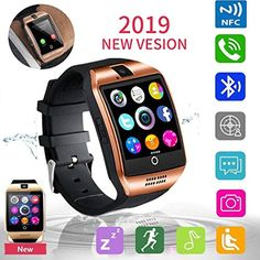 Smart Watch Fitness Tracker, JAVENPROEQT Bluetooth Smart Watch Touchscreen Smartwatch with SIM SD Card Slot Camera Call/Message Reminder Pedometer Music Player Compatible Android iOS Phone (Gold) *** More info could be found at the image url. (This is an affiliate link) #cellphonesaccessories