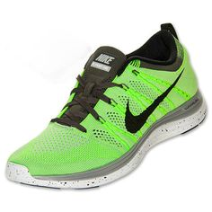low priced efa1f 02baa Mens Nike Flyknit Lunar 1 Electric Green Black Wolf Grey Midnight 554887  300 Nike Flyknit Lunar
