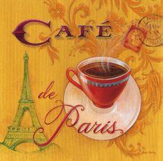 Café de Paris - poster by Angela Stachling