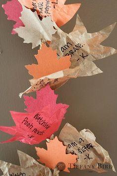 Hope I have time...autumn leaf garland
