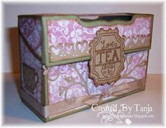 Tea box - Template + tutorial