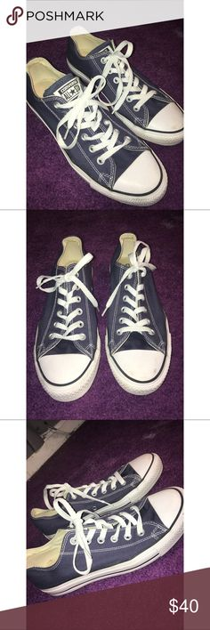 Navy Blue Converse navy blue converse, woman's size 9, men's size 7, worn only a few times, great condition except tiny mark on left foot front as shown in picture! Converse Shoes Sneakers