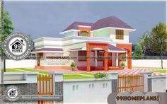 Home Front Elevation Ideas House Plans With Pictures, House Design Pictures, Double Story House, House Plans One Story, Indian Home Design, Kerala House Design, 2 Storey House Design, Small House Design, Simple House Plans