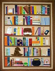 Free Harry Potter quilt patterns and quilt block patterns. Sew a special quilt for your favorite Harry Potter enthusiast.: Another Harry Potter Bookcase Quilt Pattern Paper Piecing Patterns, Quilt Patterns Free, Embroidery Patterns, Free Pattern, Block Patterns, Hand Embroidery, Sewing Patterns, Harry Potter Quilt, Harry Potter Nursery