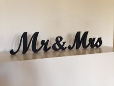 Mr. . Mrs.. wood sign wedding decor,  Mr. and Mrs. wooden letters, Wedding sign, Wedding Decor, Rustic sign on Etsy, $25.00