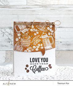 RejoicingCrafts: My card with the Altenew Coffee Love stamp set. #altenew…