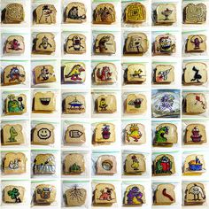 Look! 5 Years of Hand-Drawn Sandwich Bags by a Dedicated Dad.  Really cool, and yes, I'm feeling more than a tad bit like a slacker mom!