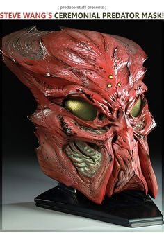 Predator Ceremonial Predator Mask Prop Replica by Sideshow Collectibles Predator Costume, Predator Helmet, Predator Alien, Aliens, Giger Alien, Airsoft Mask, Cool Masks, Creepy Masks, Alien Races