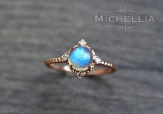 14K/18K Labradorite Engagement Ring with by MichelliaDesigns