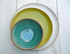 Wedding DInnerware Registry Dinner ware Ceramic by jclayPottery