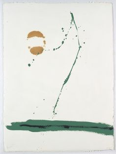 Robert Motherwell, Beside the Sea, Artwork inspired by the waves crashing in the ocean, and the shapes they made splashing over the bulkheads in Provincetown. Robert Motherwell, Abstract Expressionism, Abstract Art, Love Illustration, Mark Rothko, Willem De Kooning, Heart Art, Painting & Drawing, Action Painting