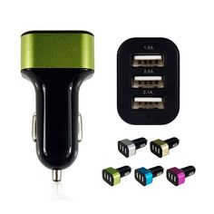 Universal Triple USB Car Charger 3 Port Car-charger Adapter Socket 2A 2.1A 1A Car Styling USB Charger For Car-Styling