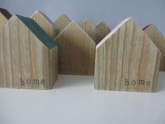 houten huisjes bestempeld