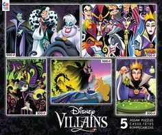 disney villains collection 5 in 1 puzzle ursula maleficent evil queen new w box