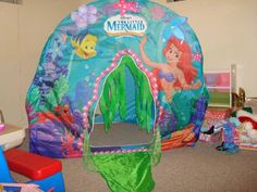 Little mermaid tent my sister Danielle had one of these when we were little & Amazon: Disney Ariel Bed Tent with Push Light Twin Toy Only $12.99 ...