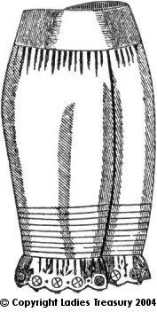 Free Pattern: Lady's Drawers, 1889 - 1893