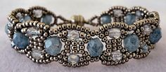 Linda's Crafty Inspirations: Canterbury Bracelet made with  11/0 seed beads, 4mm and 6mm fire polished beads