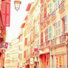 Candy-colored street