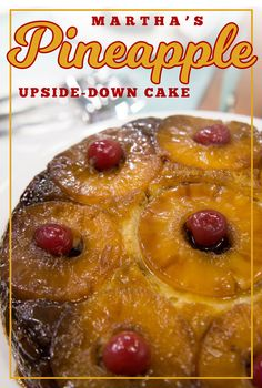 Martha's Stewart's version of the classic pineapple upside-down cake is rich, buttery, sweet and caramel-y. (Favorite Cake Pineapple Upside Down) Pineapple Upside Down Cake, Pineapple Cake, Pineapple Recipes, Cake Recipe Martha Stewart, Cake Recipes, Dessert Recipes, Classic Desserts, Sweet Cakes, Cupcake Cakes