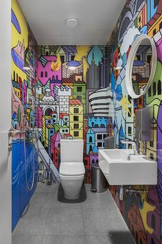 Swatch Group Offices – Moscow ABD architects has recently developed the new offices of Swatch Group located in Moscow, Russia. Swatch Group is an international company, headquartered in Switzerland. ABD architects had non-standard task to… Interior Design Blogs, Interior Decorating, Wc Decoration, Swatch, Toilette Design, Wall Design, House Design, Minimalist Bathroom Design, Memphis Design