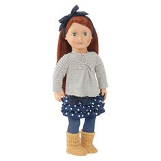 Our Generation Regular 18 Doll - Kendra by Our Brand -- Awesome products selected by Anna Churchill Og Dolls, Girl Dolls, Straight Red Hair, Pixie, Ropa American Girl, Journey Girls, Our Generation Dolls, Girls Accessories, Fashion Dolls