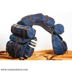 Large complete rear denim Saddle bag for Trekking Saddle My Horse, Horse Riding, Horses, Western Riding, Saddles, Leather Craft, Saddle Bags, Denim, Model