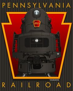 """Sunday Streamline no.50: the """"Big T"""" poster by Don Henderson for the Pennsylvania Railroad"""