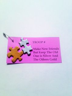 Make New Friends Girl Scout SWAPS, Girl Scout SWAP Kit, Craft Kit, Girl Scout…