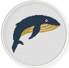 Instant download,free shipping,Cross stitch pattern, Crossstitch PDF,hello whale ,zxxc0562