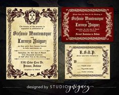 Medieval Wedding Printable Invitation Suite Renaissance