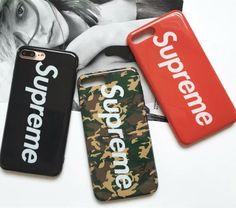2017 Fashion Brand Supreme Case For iPhone 6 6s Plus Ring Bracket Silicone Phone Case For iPhone 7 7plus Shell Cover Coque