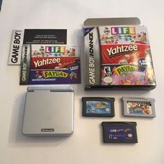 Nintendo Game Boy Advance SP Platinum Silver Handheld AGS-001 & 3 Games - TESTED - http://video-games.goshoppins.com/video-game-consoles/nintendo-game-boy-advance-sp-platinum-silver-handheld-ags-001-3-games-tested/