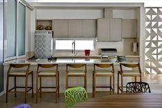 cream mid century modern kitchen - Google Search