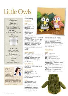 Owl Knitting Pattern, Knitting Dolls Free Patterns, Knitted Dolls Free, Christmas Knitting Patterns, Free Knitting, Baby Knitting, Knitting Terms, Beginner Knitting, Knit Patterns