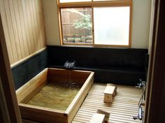 Ryokan bathroom. With any luck, in a month, I'll be in one of these!