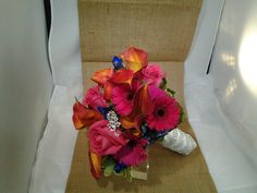 Colorful  Bridal Bouquet for the Bride in love with Color