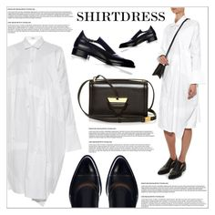 """""""It's a Shirt! It's a Dress! It's a Shirtdress!"""" by martso ❤ liked on Polyvore featuring Loewe, Francesco Russo and shirtdress"""