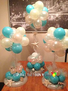 Balloon Event Decorations - Orange County - California : Centerpieces and Bouquets Balloon Centerpieces, Balloon Decorations, Birthday Decorations, Baby Shower Decorations, Balloon Ideas, Masquerade Centerpieces, Centrepieces, Wedding Centerpieces, Ballon Arrangement