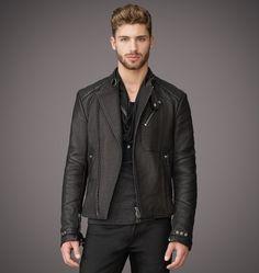 #Belstaff #Embossed #Leather #Mens #Jacket