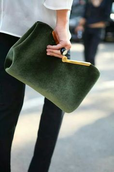 Green clutch -super cute
