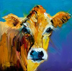 Not a painting a day: ARTOUTWEST COW ART ANIMAL CATTLE BY Diane Whitehead
