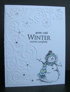 card embossing winter wonderland from Cuttlebug - Google Search
