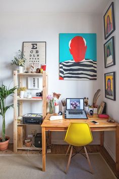 A Painter's Colorful Art Complements Her Stunning, Small Spanish Studio