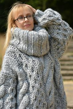 Thick Sweaters, Sweaters For Women, Women's Sweaters, Mohair Sweater, Men Sweater, Unisex, Hand Knitting, Wool Blend, Knitwear