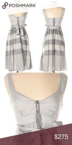 b27aa4aed4db Escada Tan Silk Khaki Trench Dress Like new. 86% cotton 11% silk 3 ...