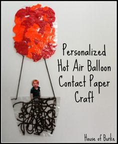 Personalized Hot Air Balloon Contact Paper Craft