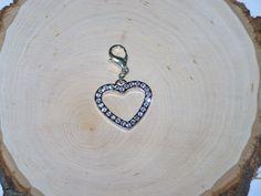 Rhinestone Heart Key Chain / Purse Charm / by AprilsHandmadeJewels