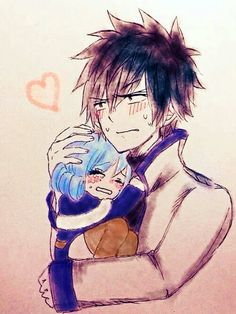 Find images and videos about art, anime and fairy tail on We Heart It - the app to get lost in what you love. Fairy Tail Juvia, Fairy Tail Gray, Fairy Tail Love, Fairy Tail Ships, Nalu, Jerza, Fairy Tail Characters, Anime Characters, Juvia And Gray