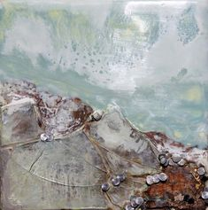 Robin Luciano Beaty-encaustic. Love this with real shells in it